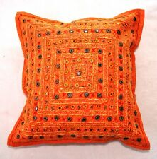 Handmade Indian Lace Mirror cushion covers