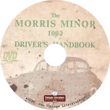 Morris Minor Drivers Handbook ~ Workshop Manual ~  Maintenance Guides on DVD