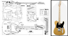 Telecaster-Style Electric Guitar Full-Scale Plan