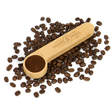 2 in 1 Coffee Clip & Scoop   Wooden Tablespoon & Airtight Coffee Bag seal   M&W