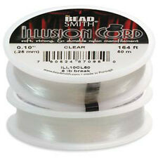 Beadsmith Illusion Cord - Monofilament   * 50 metres reel * FREE POST