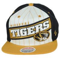 NCAA Zephyr Missouri Tigers Structured Flat Bill Snapback Adjustable Hat Cap