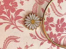 Vintage Sarah Coventry Bracelet, enamel daisy charm, garden bracelet,flower