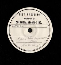 "DAY, Doris. From This Moment On. 7"" 33 vinyl test pressing on 10.5"" disc. M-"