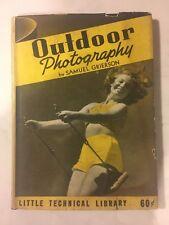 Outdoor Photography gebundenes Buch von Samuel Grierson begegnet - 1940 mit Cover
