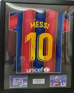 Framed Lionel Messi Barcelona 20/21 Signed Shirt COA