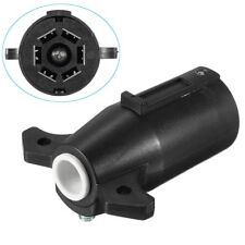 Black Round RV Male 7 Way to 4 Pin Flat Trailer Light Adapter Plug Connector