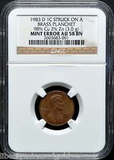 1983 D COPPER Penny NGC AU 58 BN Ultra Rare Transitional Error ~ Only 2 Known