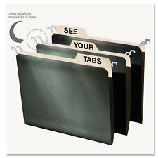 Find It Hanging File Folders with Innovative Top Rail Letter Green 20/Pack