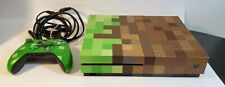 Microsoft Xbox One S 1TB Minecraft Limited Edition Bundle Green & Brown console