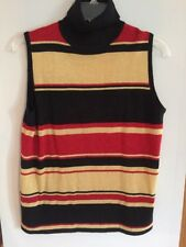 Turtleneck Sleeveless Tank Multi color With Shimmer Size Small  By Sag Harbor