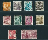 BADEN FRENCH OCCUPATION Mi. #28-37 used stamp set! CV $265.00