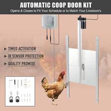 66w Automatic Chicken Coop Door Opener Kit W Timer Ir Sensor 2 Remote Controls