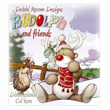 Debbi Moore Designs ~ Rudolph & Friends ~ Christmas Dimensional CD Rom NEW