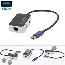2 Port USB 3.0 Hub Gigabit Ethernet LAN RJ45 Network Adapter TF SD Card Reader