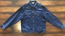 vintage levis jacket Rayon Polyester Super Rare! 70s 80s Size 44 Mens Clean
