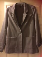 """H&M Divided size 12 approx 38"""" chest grey jacket V neck, button front 2 pockets"""