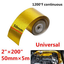 "200"" 1200°f Continuous Roll Self-Adhesive Gold Reflective Heat Shield Wrap Tape"