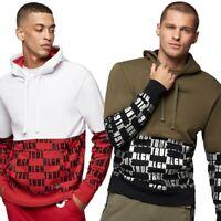 True Religion Men's Monogram Logo Panel Hoodie Sweatshirt