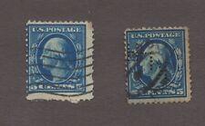 Rare US Stamps, 1909 Washington 5 Cents, Scott # 335 and # 361 Bluish Paper
