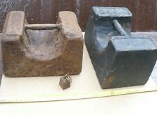 More details for 2 vintage 56lb rusty weight anchor cycle kayak bike security helston cornwall