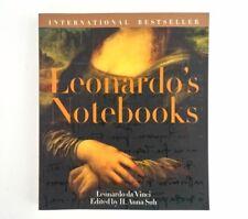 Leonardo's Notebooks Writings Drawings Leonardo da Vinci Art Coffee Table Book
