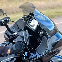 "Klock Werks 14"" Sport Flare Tinted Windshield Harley Road Glide 2015-2017 FLTR"