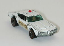 Redline Hotwheels White 1973 Police Cruiser oc11466