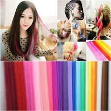 10Pc/Set Women Girl Straight Synthetic Clip-in Multi-Color Long Hair Extensions