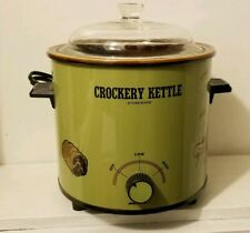 Vintage Crockery Kettle Crockpot Green Kmart