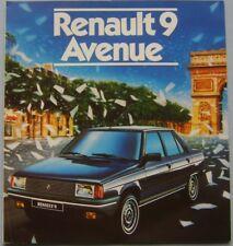 Renault 9 Avenue Original Dutch Market Sales Brochure No. 24 102 11 circa 1984