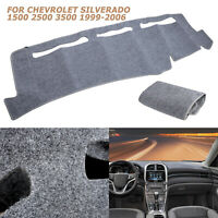 Grey Dash Cover Mat Pad Dashboard for 1999-2006 Chevy 1500 2500 3500 Tahoe 00-06