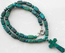 AAA Green Azurite Chrysocolla Loose Beads Gem Pendant Necklace 23'' T-90