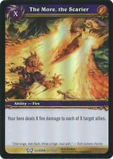 WORLD OF WARCRAFT WOW TCG RARE PROMO FOIL : THE MORE, THE SCARIER