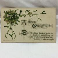 Vintage Postcard Embossed A Joyus Christmas Greeting John Winsch 1912 1913