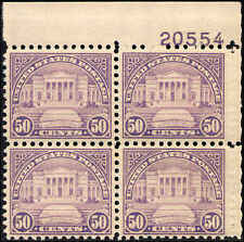 1931 US Stamp #701 A173 50c Mint NH VF Plate Block of 4 Catalogue Value $230