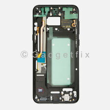 Black Samsung Galaxy S8 Plus G955A G955T Middle Housing Frame Bezel Mid Chassis