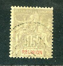 "France Reunion stamp: 1900 -1905 Inscription: ""RÉUNION""  Used, Very fine CV=$5.8"
