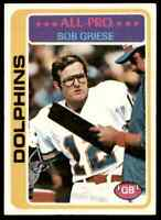 1978 Topps Bob Griese All Pro Dolphins #120 *Noles2148* Cs 10=Free