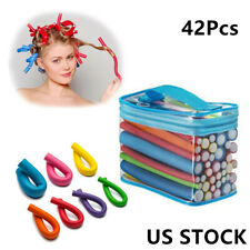 42pc Hair Curler Twist Flex Foam Perm Rods Hair Salon Roller Curls