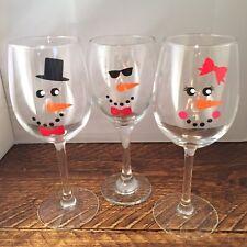 30 Snowman & Snowlady Snowoman vinyl decals stickers Christmas wine glass window