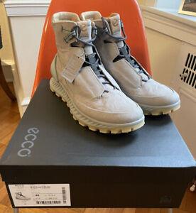 New! ECCO Exostrike Men's 46 12-12.5 Dyneema Leather Wild Dove Grey Boot. Shoe