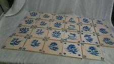 23 antique Dutch Delft mixed lot tiles
