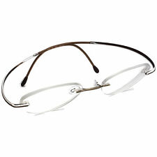 Silhouette Eyeglasses 7500 40 6056 Brown Rimless Frame Austria 50[]19 150