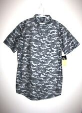 NEW Boys ART CLASS Gray Camo Camouflage Short Sleeve Button Down Shirt XL 16 NWT