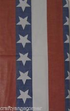 Patriotic Americana Red White Blue Stars Stripes 4th of July Tablecloth 60 Round