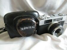 Vintage Konica Deluxe 35 mm Camera with Leather Case Made in Japan