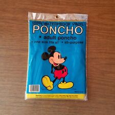 Vintage ~ Mickey Mouse Adult Yellow Poncho ~ Waterproof Vinyl ~ New in Package