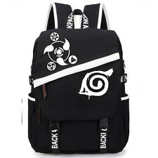 Anime Naruto Konoha Logo Backpack School Bag Canvas Sport Boy Fashion Gift Hot