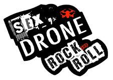 STICKER SEX DRONE & ROCK AND ROLL HUMOUR PILOTE MAVIC PHANTOM DJI 9cm DB038